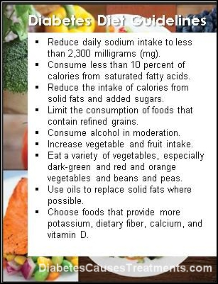 diabetes diet guidelines