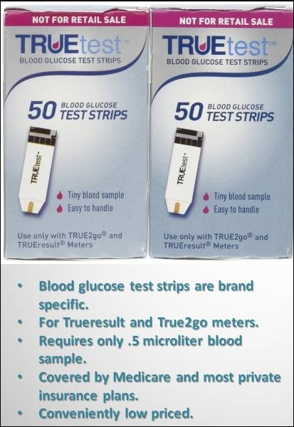 truetest blood glucose test strips